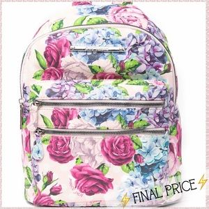 🆕Betsey Johnson Mini Pink Floral Backpack